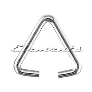 Sterling Silver Triangular Wire Bail Jump Rings